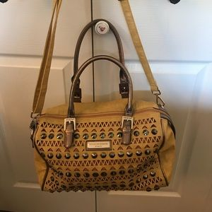 Nicole Lee Handbag w Brass Accents